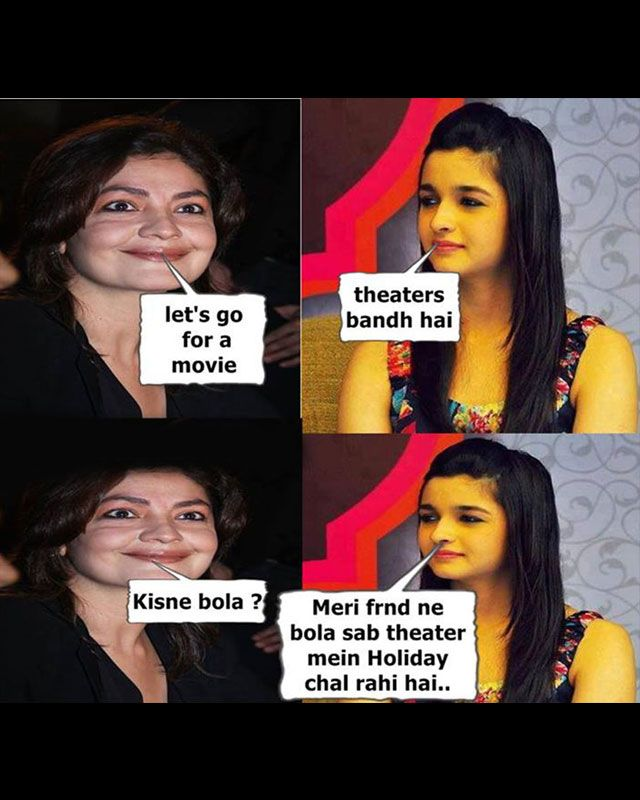 Over and again, seems like Alia Bhatt won't ever be spared. Another joke on the Bhatt girl to tickle your funny bone.