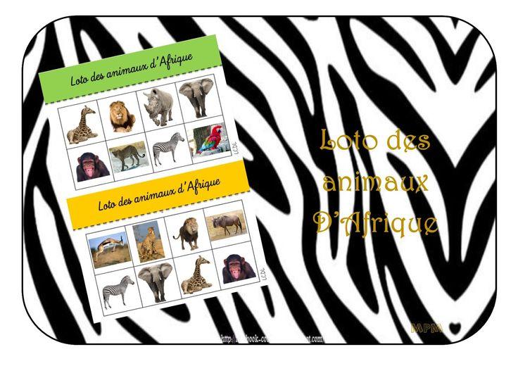 Loto des animaux d 39 afrique maternelle afrique - Animaux afrique maternelle ...