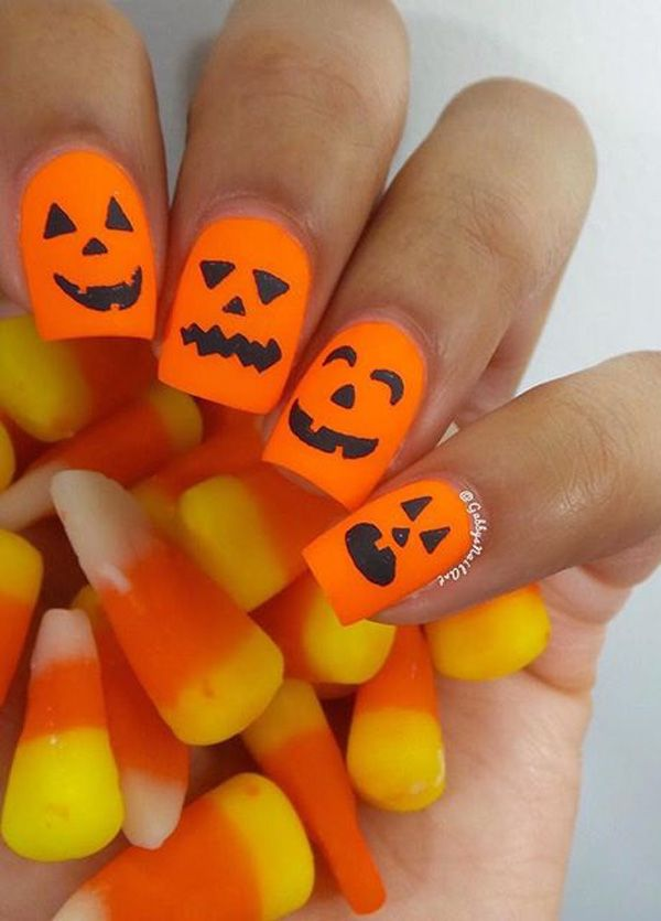 Halloween nail art-42 - 65 Halloween Nail Art Ideas <3 <3