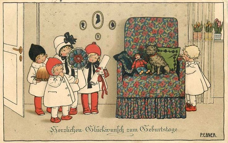 Pauli Ebner (1873-1949) — Old Christmas Post Cards  (960x605)