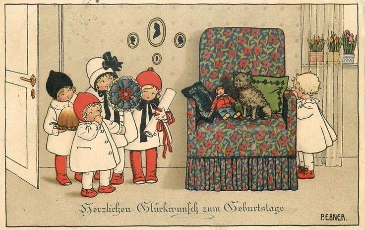 Pauli Ebner (1873-1949) — Old Christmas Post Cards  (960x605)