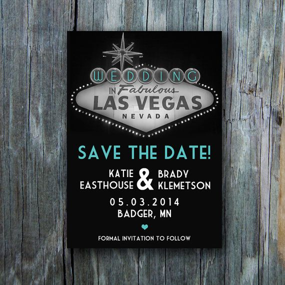 5 x 7 Las Vegas Save the Date Card (digital file) on Etsy, $15.00