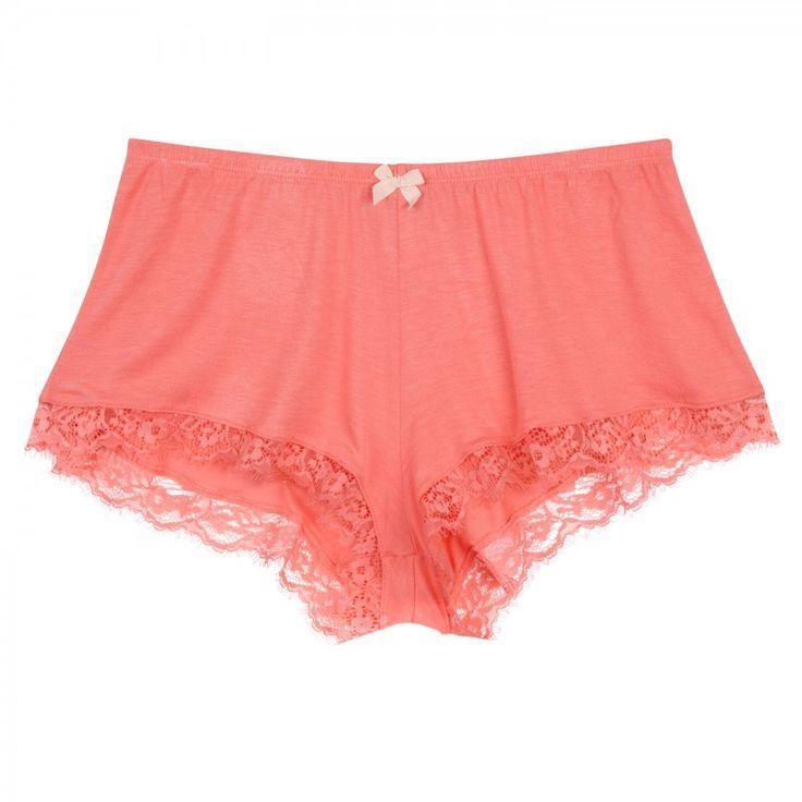 Olga lace trimmed jersey pyjama shorts, Nightwear, Harvey Nichols Store View