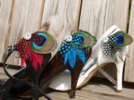 Pávatollas cipőklipsz, Peacock Shoe clips