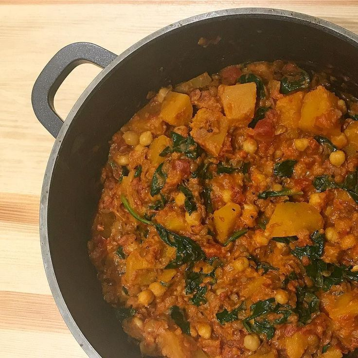 Pumpkin is an excellent source of Vitamin A which is important for healthy skin eyes and immune function  .  A few people got in touch and asked for the recipe for this pumpkin curry that I made earlier in the week so here it is... .  Add the following ingredients to a large sauce pan:  Half a small-medium pumpkin peeled and chopped into bite sized pieces  1 tin of coconut milk 2 tins of chopped tomatoes  1 tin of chickpeas finely chopped chilli (to taste) 4 cloves of crushed garlic 1 tbsp…