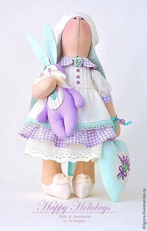 Купить Мишель. Зайка ванильно - лавандовая - зайка, игрушка зайка, игрушка зайчик, игрушка заяц