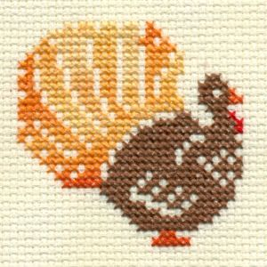 turkey cross stitch free chart