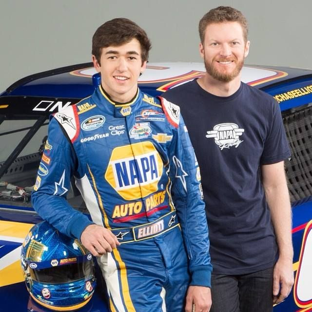 Jr and Chase Elliott, Jr Motorsports new driver.  2014.   http://jr-88-rules.weebly.com/