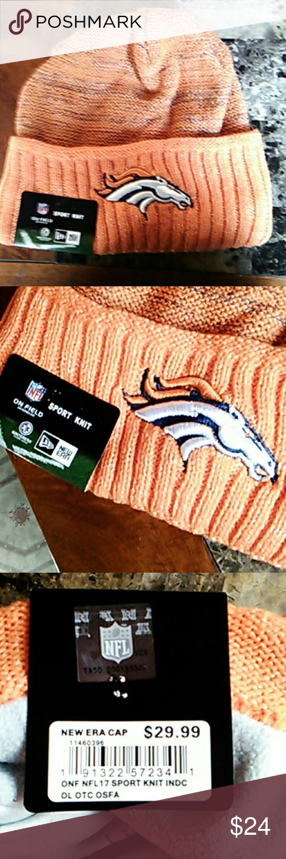 New Era NFL Broncos Beanie New. Never Used. Great for Gift or Personal.  Ships ASAP. New Era Accessories Hats