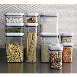 oxo 10piece pop container set crate and barrel