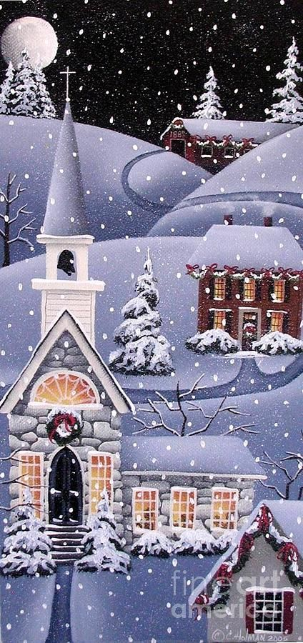 Silent Night Painting by Catherine Holman - Silent Night Fine Art Prints and Posters for Sale: