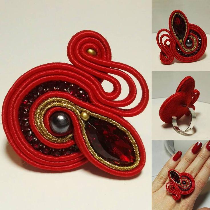 #fattoamano #madeinitaly #handmade #anellosoutache #bijoux #accessori #fashion
