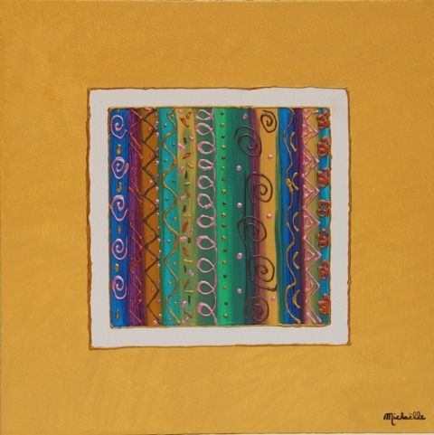 Tableau triptyque ch ssis a peinture abstraite l 39 acryliqu - Peinture acrylique triptyque ...