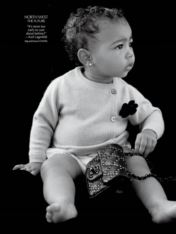Cute little baby! North West