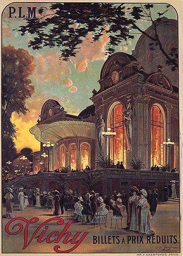"OPERA HOUSE VICHY CAFE PARIS FRANCE THEATER EUROPE VINTAGE POSTER REPRO 12""X16"" 