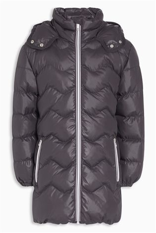 Charcoal Long Sporty Padded Jacket (3-16yrs)