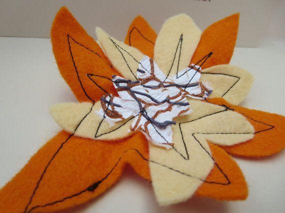 Flower Abstract Brooch Wearable Art Brooch by KBrownJewellery