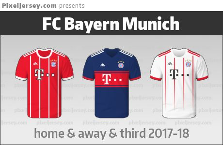 I made all three jerseys used in this season by FC Bayern Munich. I like the striped theme particularly on the away shirt.