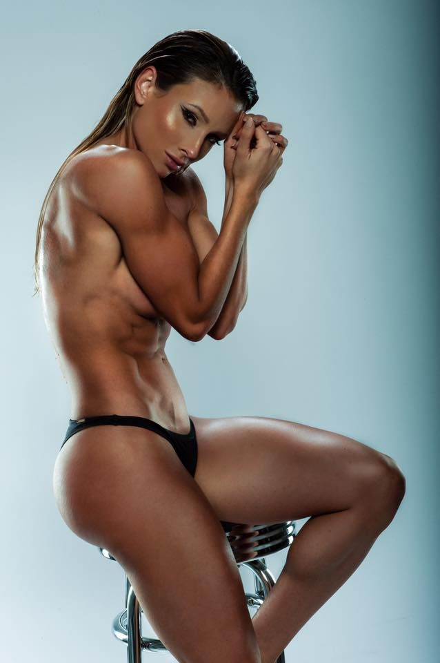 erotic female model muscle