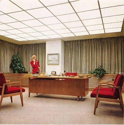 retro home office. home office design ideas vintage ad midcentury modern decor ca retro