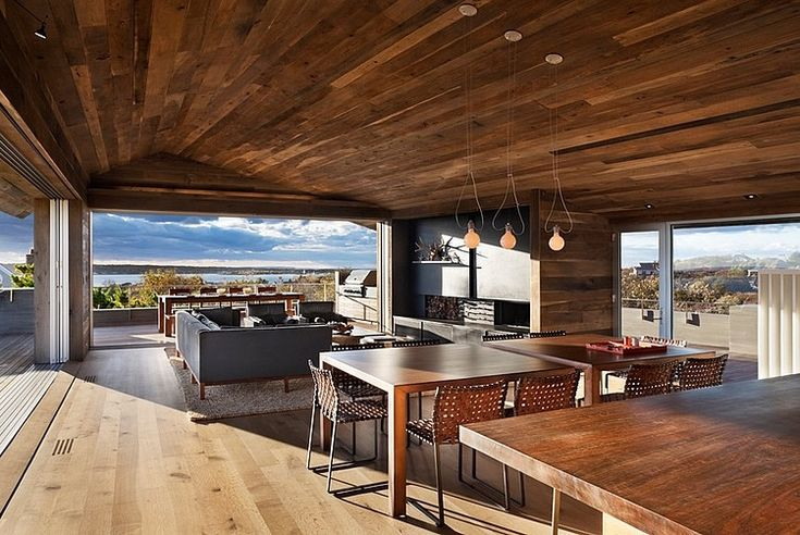 "OH My.  What I wouldn't do to have this ""outdoor"" kitchen and lounge experience. Genius Loci by Bates Masi Architects"