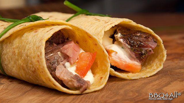 Ricetta - Fajitas con Roast Beef - Le ricette al Barbecue di BBQ4All