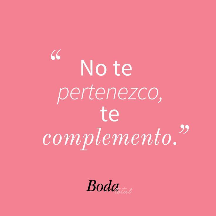 Like si eres el complemento perfecto de tu pareja #Frasesdeamor #FilosofíaBodaTotal