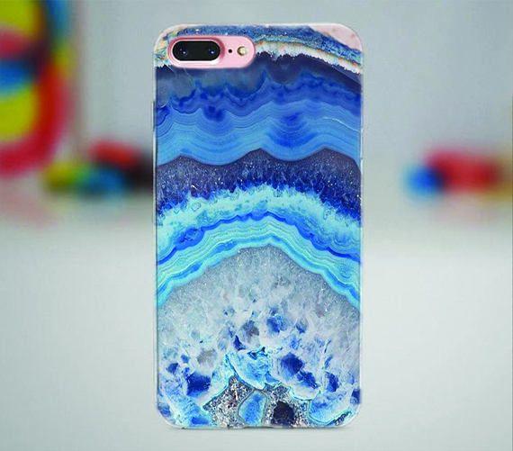 Blue raw stone iPhone case.  #rawstone #blue #iphone #iphonecase #iphone7plus #iphone7 #iphone6 #iphonex #iphone8 #stone #raw #marble