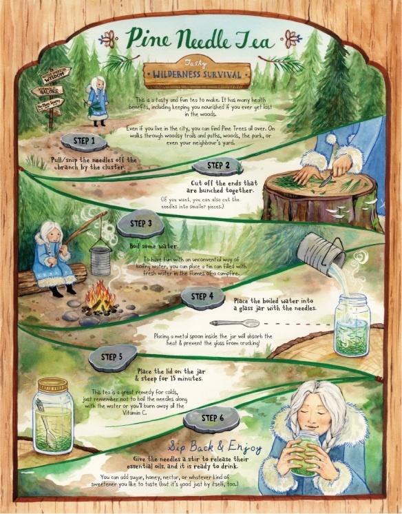 Pine needle tea recipe?
