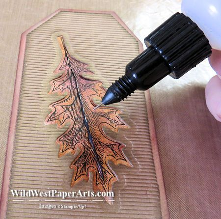 VINTAGE LEAVES - Stampin' Up - beautiful tag