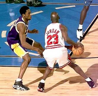 Kobe Bryant (Los Angeles Lakers) and Michael Jordan