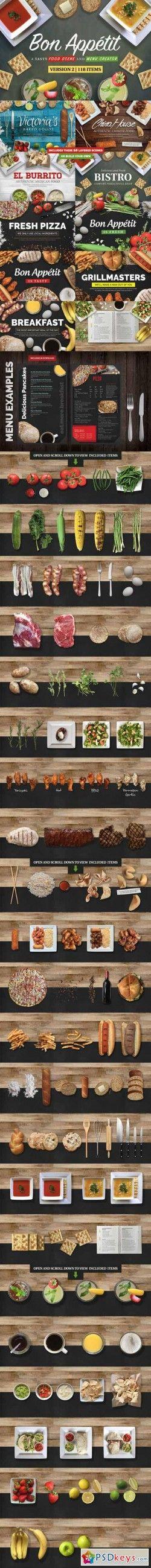 Food Scene Menu Creator 268790 » Free Download Photoshop Vector Stock image Via Torrent Zippysha ...