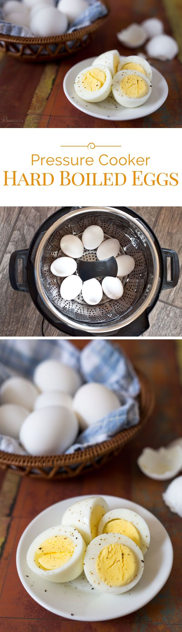 Pressure cooking is the best way to cook hard boiled eggs. It's quick, easy, your eggs will be perfectly cooked, and amazingly easy to peel.