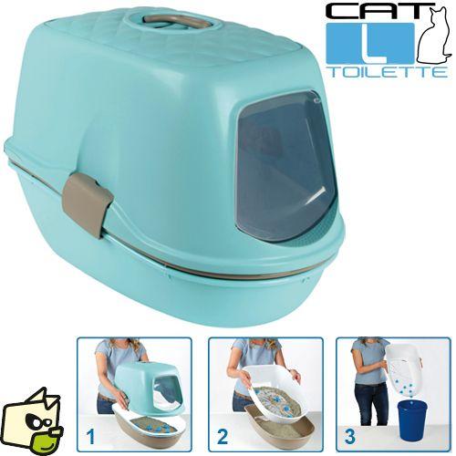Box litière BERTO TOP maison toilette pour chat