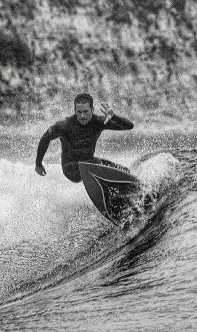 """ASHLIE WALKER: """"I don't know who took this picture. I love it and hope the photographer doesn't mind. My mom sent it to me a couple of years ago. I thought it should be shared. This is Paul totally at peace and loving life."""" PAUL W WALKER III: """"Paul in his element, surfing. He had saltwater in his soul. Would like this picture as a poster."""""""