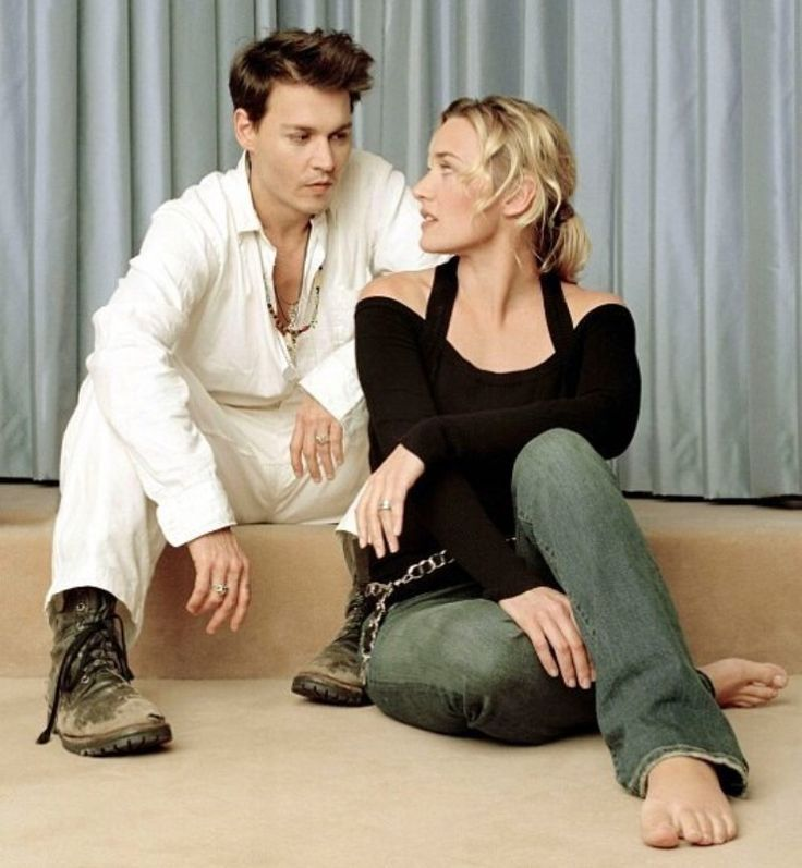Kate Winslet and Johnny Depp