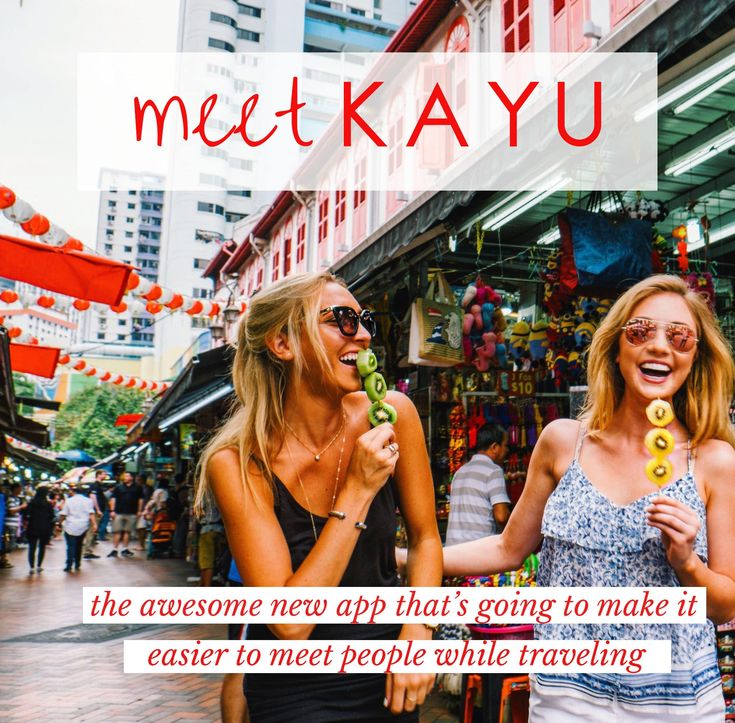 Kayu is the new travel app that's going to make it easier to meet people while traveling. Goodbye solo trips, hello awesome new friends in awesome new places!