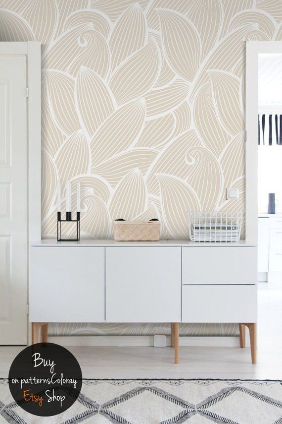 Abstract Pattern Peel And Stick Wallpaper Reusable Etsy Wall Murals Wall Patterns Peel And Stick Wallpaper