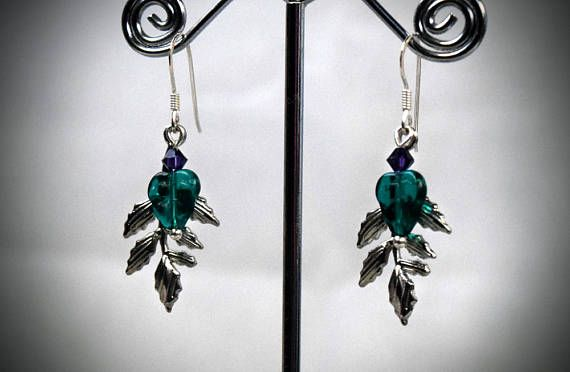Hey, I found this really awesome Etsy listing at https://www.etsy.com/au/listing/531801827/leaf-earrings-crystal-earrings-bohemian