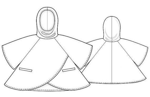 5798 personalizada Poncho costura patrón Poncho de por TipTopFit