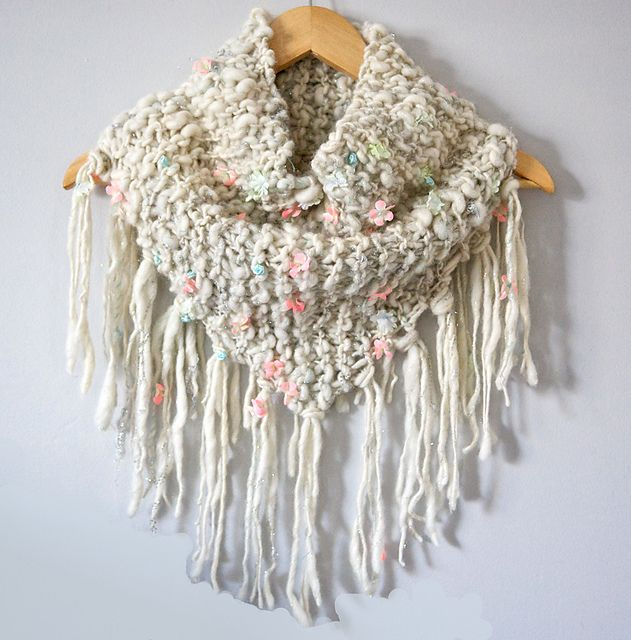 Ravelry: Keep Me Cozy Fringe Cowl pattern by Susan Sheby
