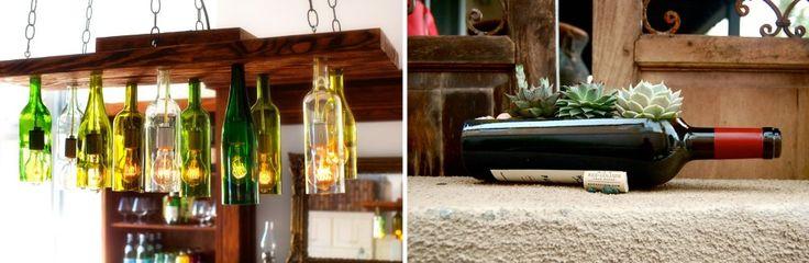 Идеи для сада: как использовать винные бутылки | HomeNiNo.ru - портал о дизайне интерьера