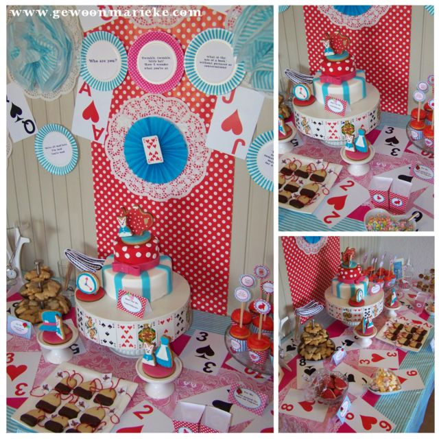 Un Birthday Alice in Wonderland Party