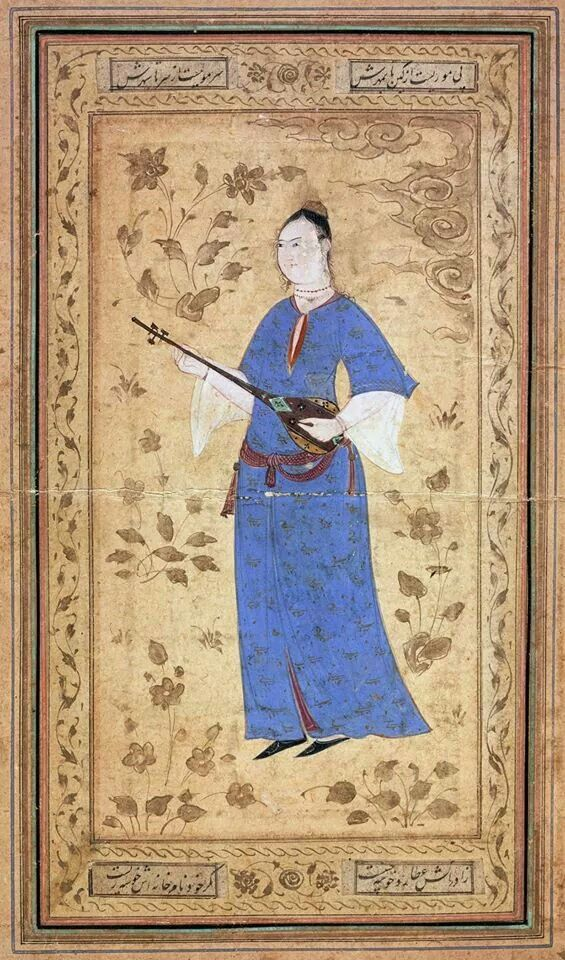 Woman with a lute - Isfahan (1600)
