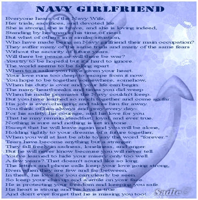 Navy Girlfriend poem | I Love My Sailor ... | Pinterest ...