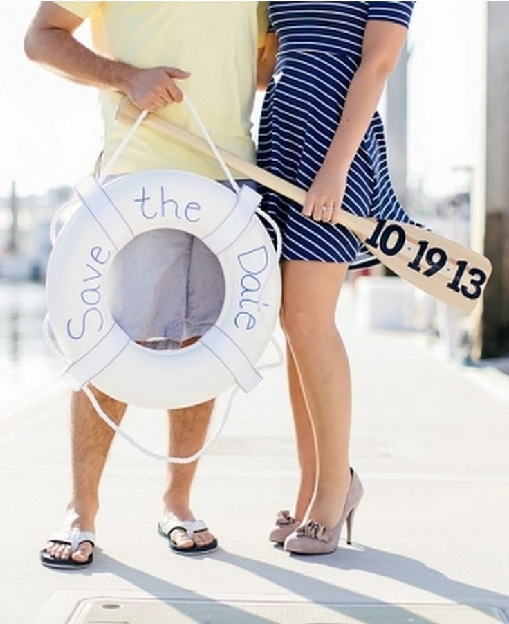Nautical Wedding: 10 ways to Rock Your Nautical Wedding - KnotsVilla #Nauticalwedding #savethedate