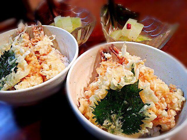 今日の贅沢まかないです♪ - 43件のもぐもぐ - 天丼&冷たい冬瓜さっぱり煮 #天ぷらの日(7月23日) by ichidolushi
