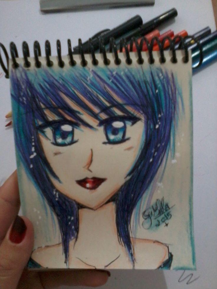 Girl with Blue Hair :D