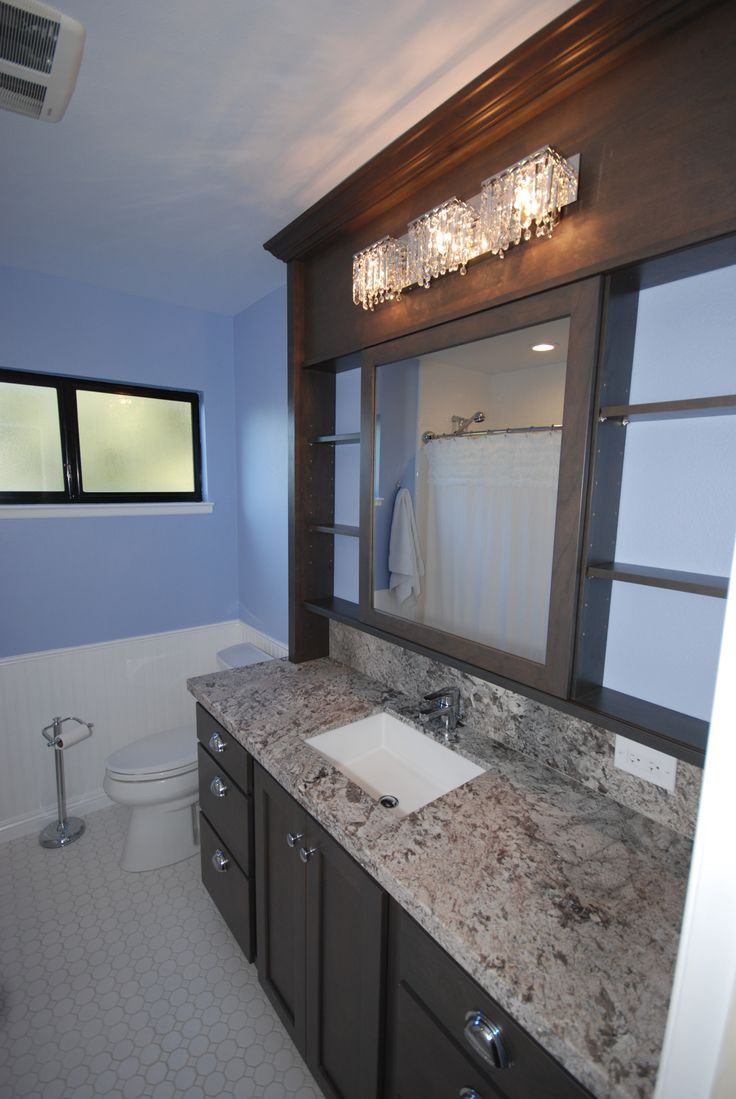 StarMark cherry slate with sliding vanity mirror
