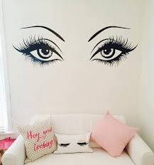 Image result for free semi permanent eyelash information, I think this would be cute in a girls room, or makeup area,